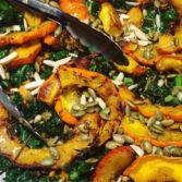 Roasted Festival Squash  With Nuts & Seeds