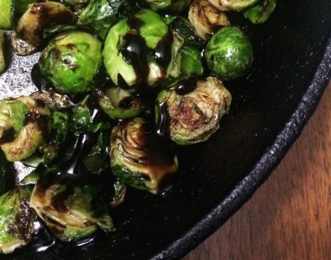 Roasted Brussels Sprouts with Rosemary Balsamic Glaze