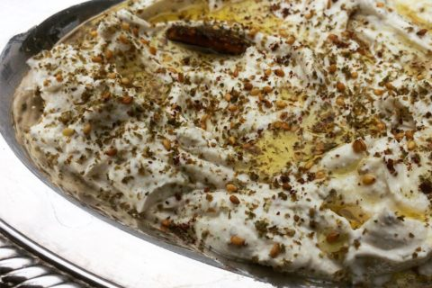 Za'atar Labney Roasted Garlic Dip