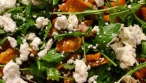 Roasted Sweet Potato Salad with Ginger, Feta & Shallots
